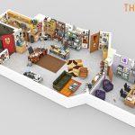 Platós de series de TV en 3D recreados por Drawbotics