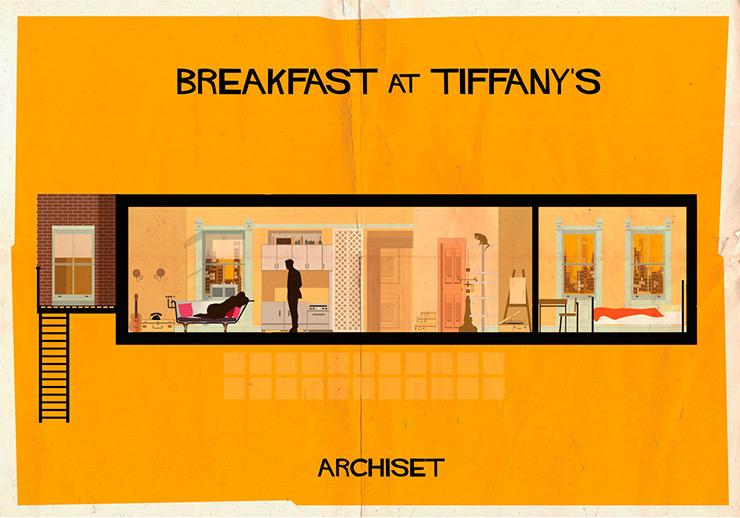 ARCHISET – Dibujos de la Escenografía de grandes Clásicos del Cine