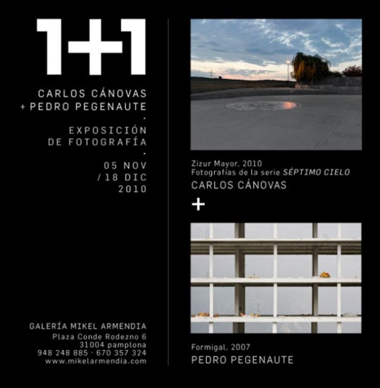 """Cartel """"1+1"""" - Carlos Cánovas y Pedro Pegenaute - Fotografos"""