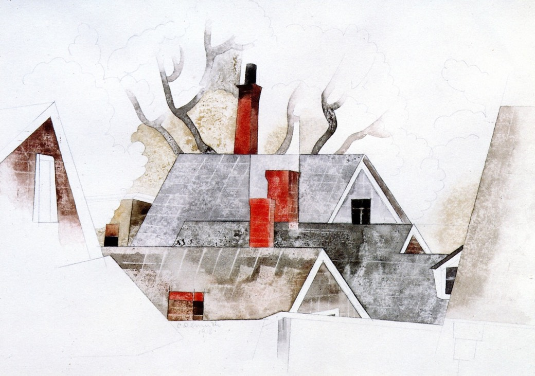 1918 Red Chimneys por Charles Demouth