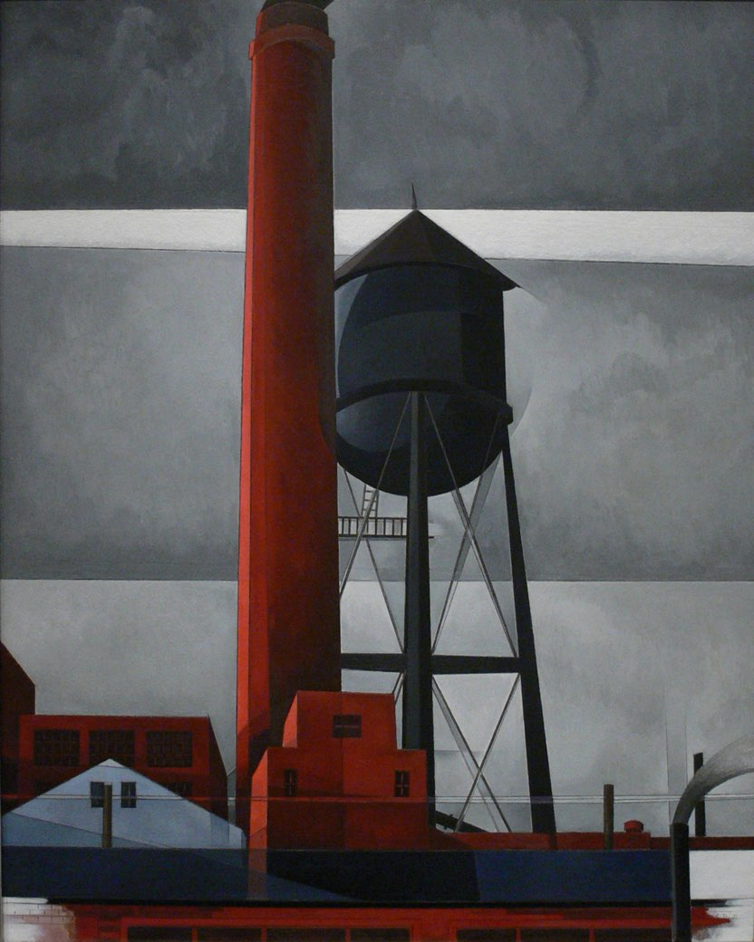 1931 Chimney and Water Tower