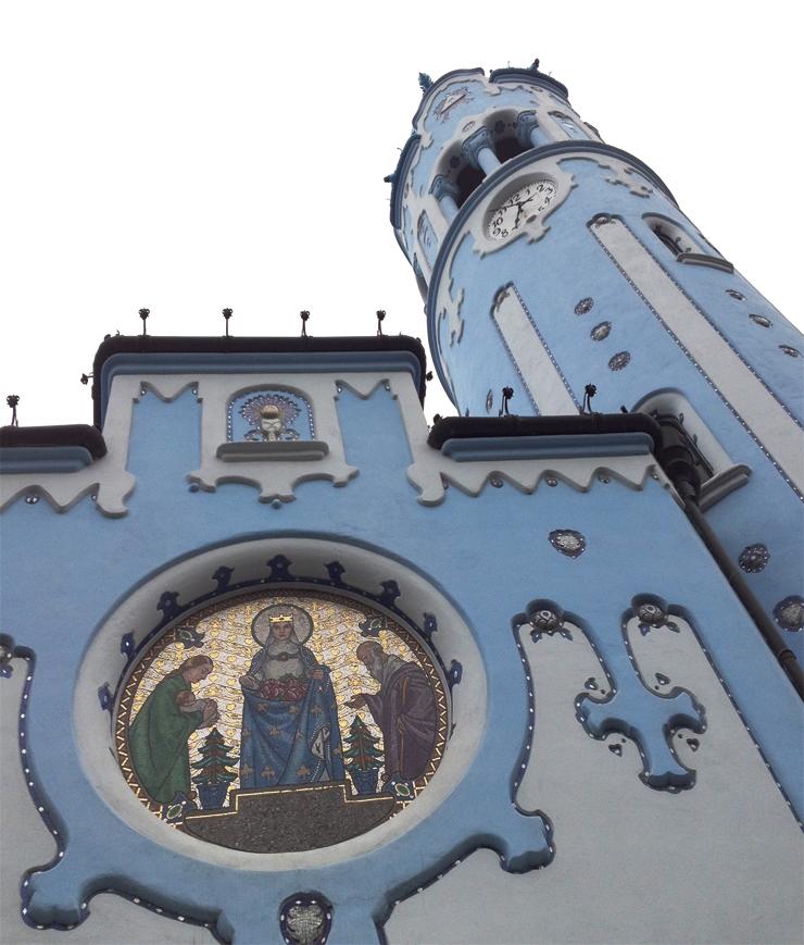 Iglesia azul art nouveau bratislava detalle