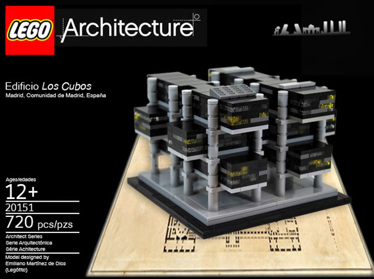 lego architecture madrid edificio los cubos
