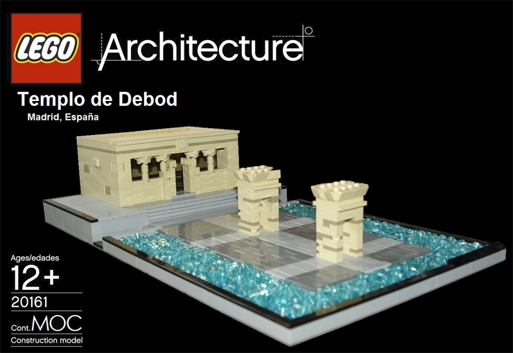 lego architecture madrid templo debod
