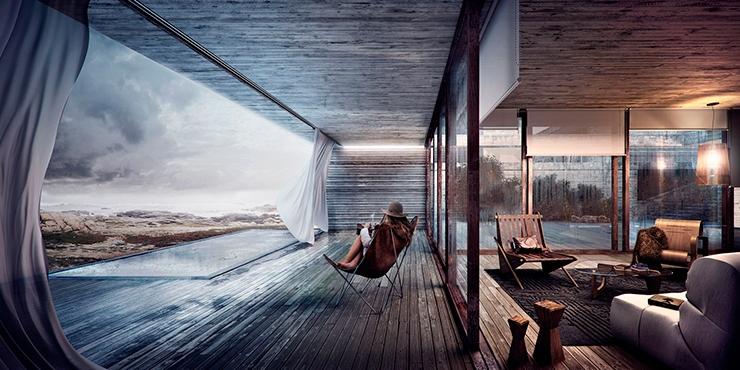 3d-arquitectura-casa-en-la-costa 3d de arquitectura