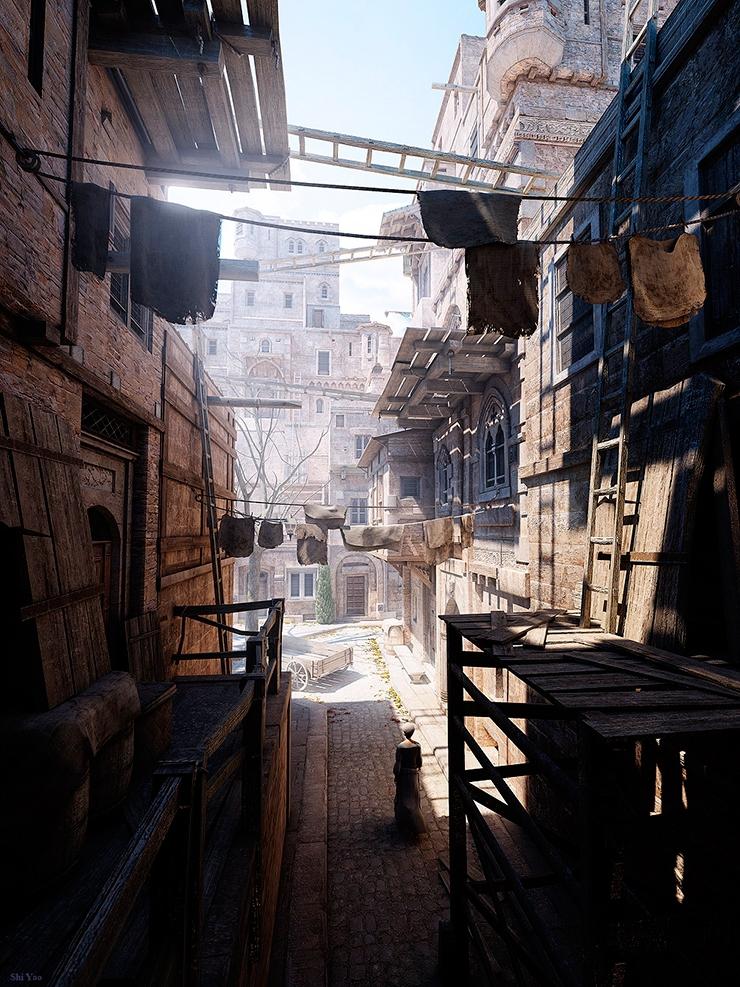3d-arquitectura-ciudad-solitaria