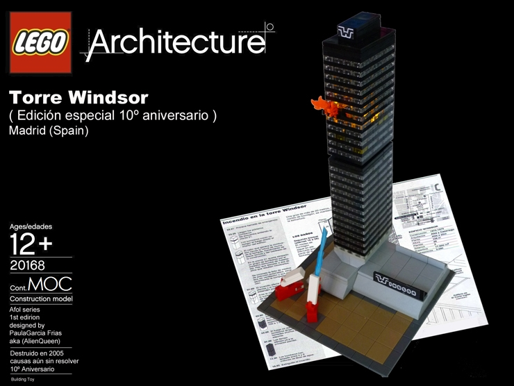 lego arquitectura madrid torre windsor