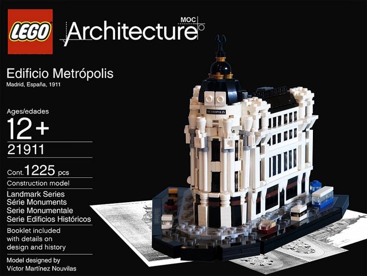 lego arquitectura madrid edificio metropolis