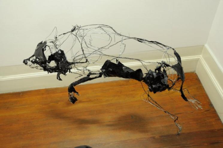 lobo con alambre