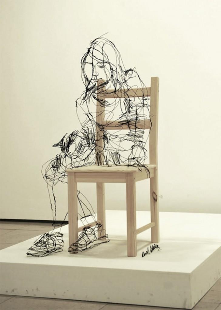 Esculturas 3D utilizando alambres