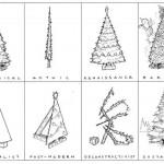 Árboles de navidad según los estilos arquitectónicos
