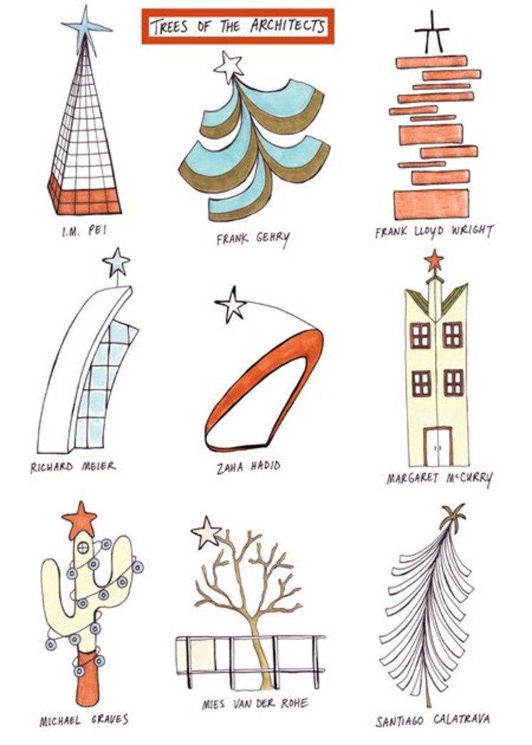 Los arquitectos y sus árboles de navidad