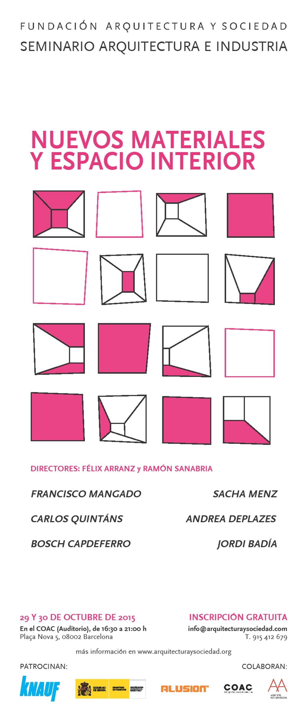 Arquitectura-Sociedad-Nuevos-materiales-espacio-interior-cartel
