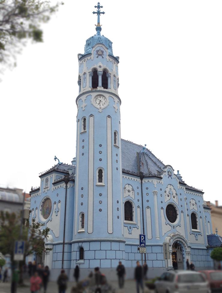 Art nouveau_Iglesia azul_Bratislava