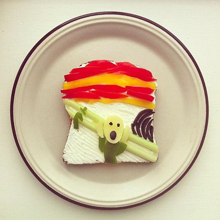 arte con tostadas pintura munch