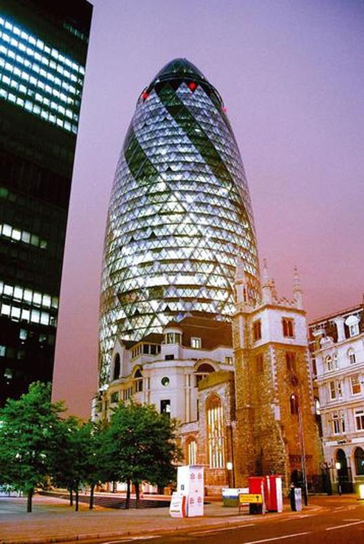 Swiss re tower automatismos