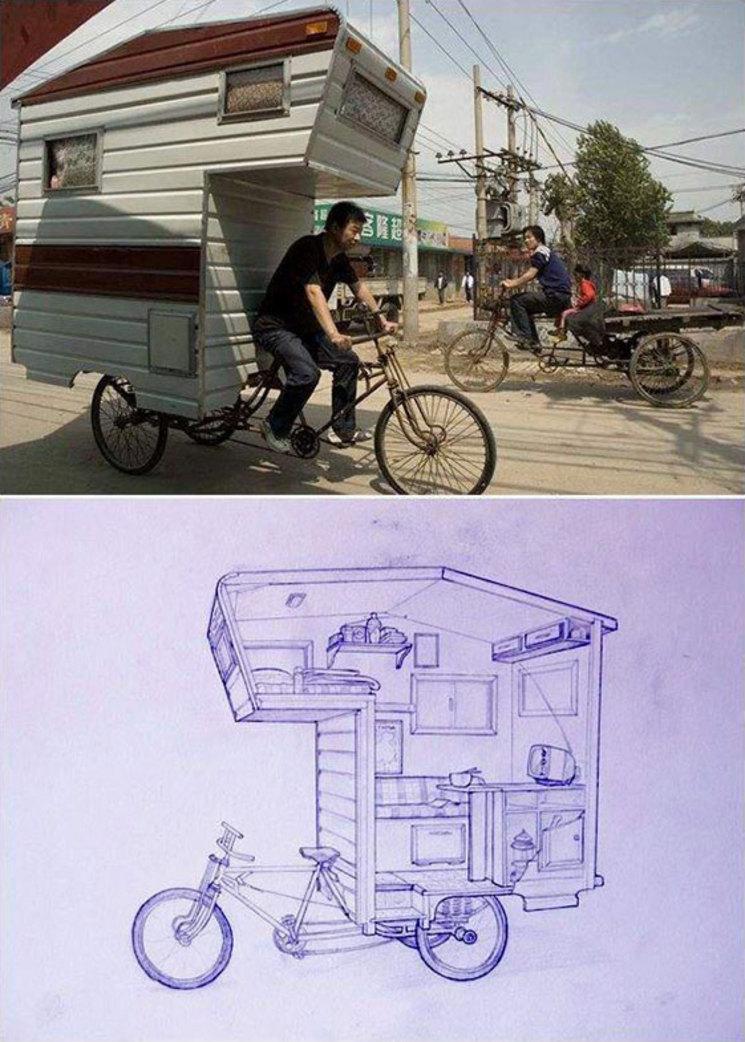 Bicicleta-Caravana, la nueva solución de vivienda móvil y ecológica