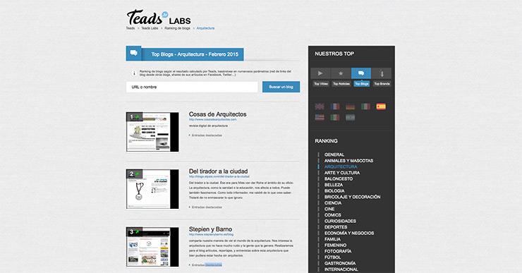 Blog arquitectura mas influyente febrero 2015
