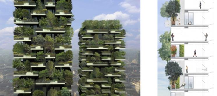Edificio residencial verde, Bosque Vertical – Stefano Boeri