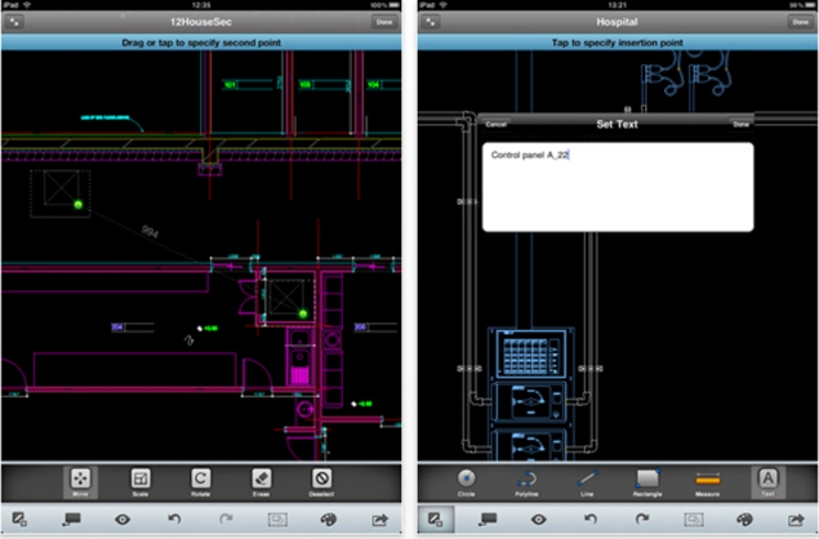 AutoCAD en iPad