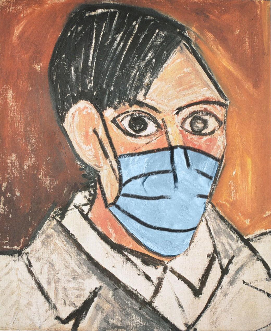 COVID-19-Autorretrato-Pablo-Picasso