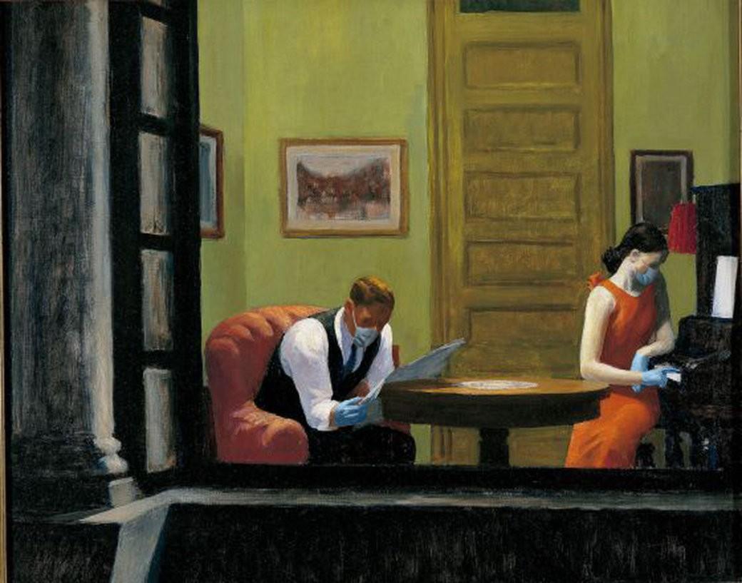 COVID-19-Room-in-New-York-Edward Hopper