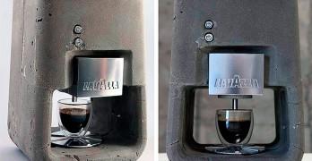 Espresso Solo, una cafetera de hormigón