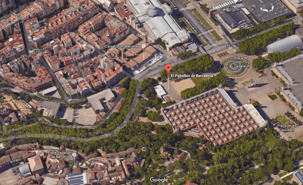 Vista aérea en google maps contexto
