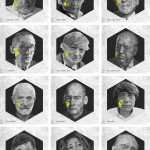 Caras arquitectos famosos triangulares