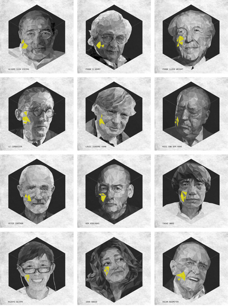 CARA – Triangulando las caras de los arquitectos famosos