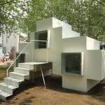 Pequeña casa inspirada en Space Invaders