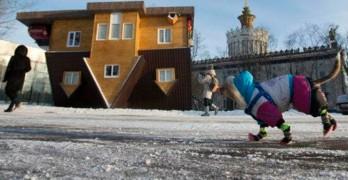 Casa al revés en Rusia