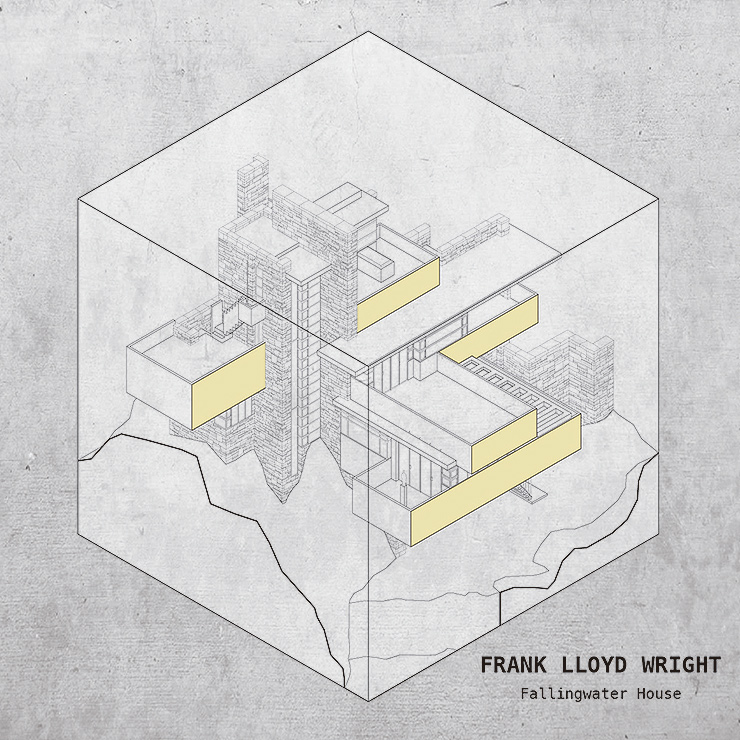 viviendas unifamiliares famosas-cubos-Yannick-Martin-Frank-lloyd-Wright