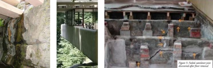 Arreglos de Casa de la Cascada - Frank Lloyd Wright