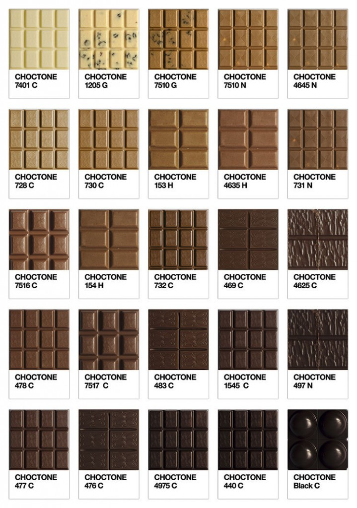 choctone la gama de marrones del chocolate segn pantone