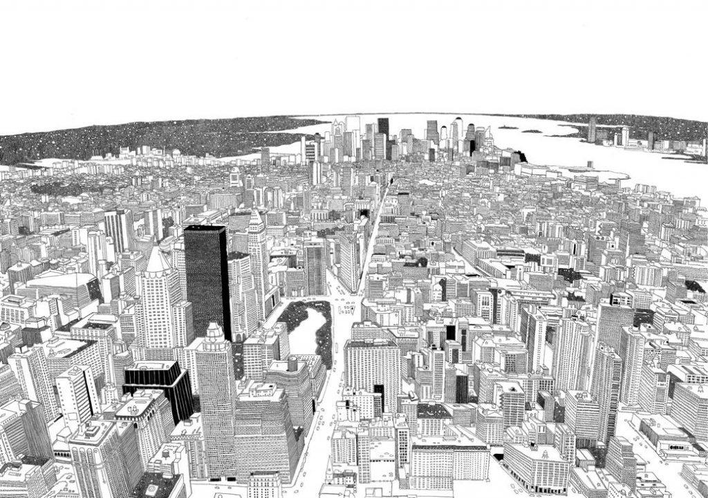 La ciudad contemporánea dibujada por Chris Dent