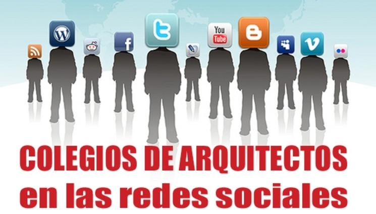 Listado de los Colegios de arquitectos en las redes sociales