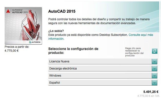 Comprar AutoCAD 2015