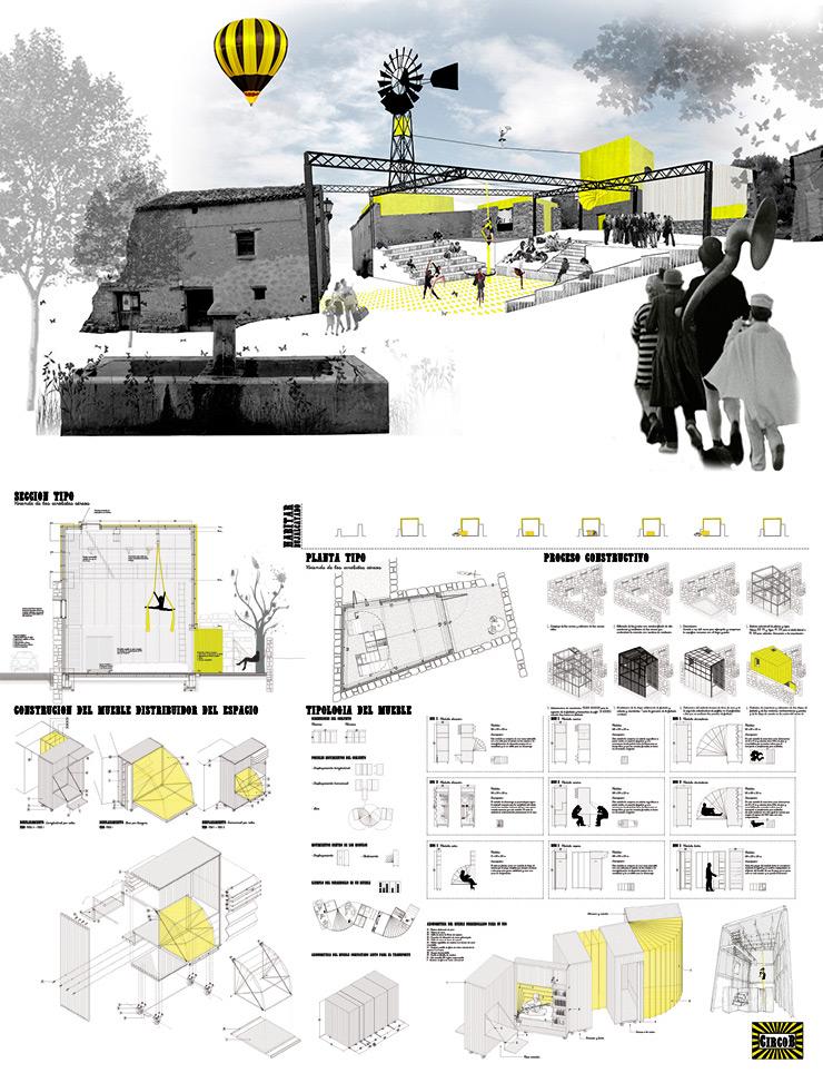 Concurso proyectos estudiantes arquitectura CIRCOB