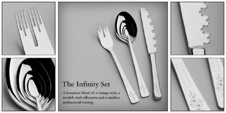 Una cubertería fractal para tu hogar - The Infinity Set
