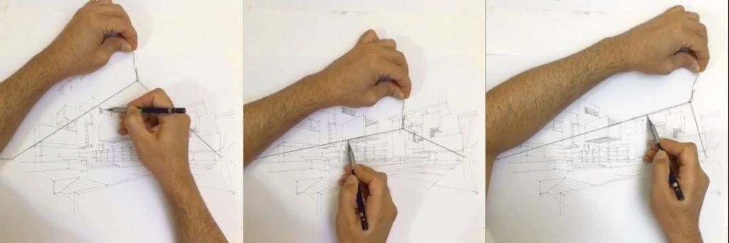 Dibujo en perspectiva a mano alzada nivel pro