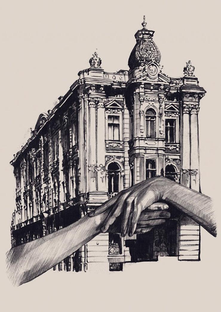 Impresionantes dibujos de arquitectura