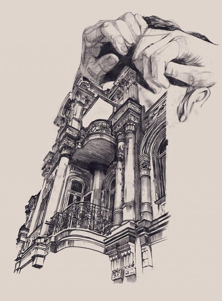 Impresionantes croquis de arquitectura