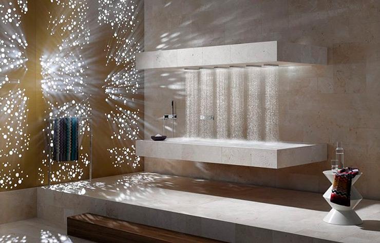 Original ducha horizontal diseñada por Sieger Design