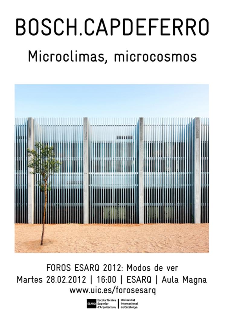 Conferencia de Ramón Bosch y Bet Capdeferro en ESARQ-UIC