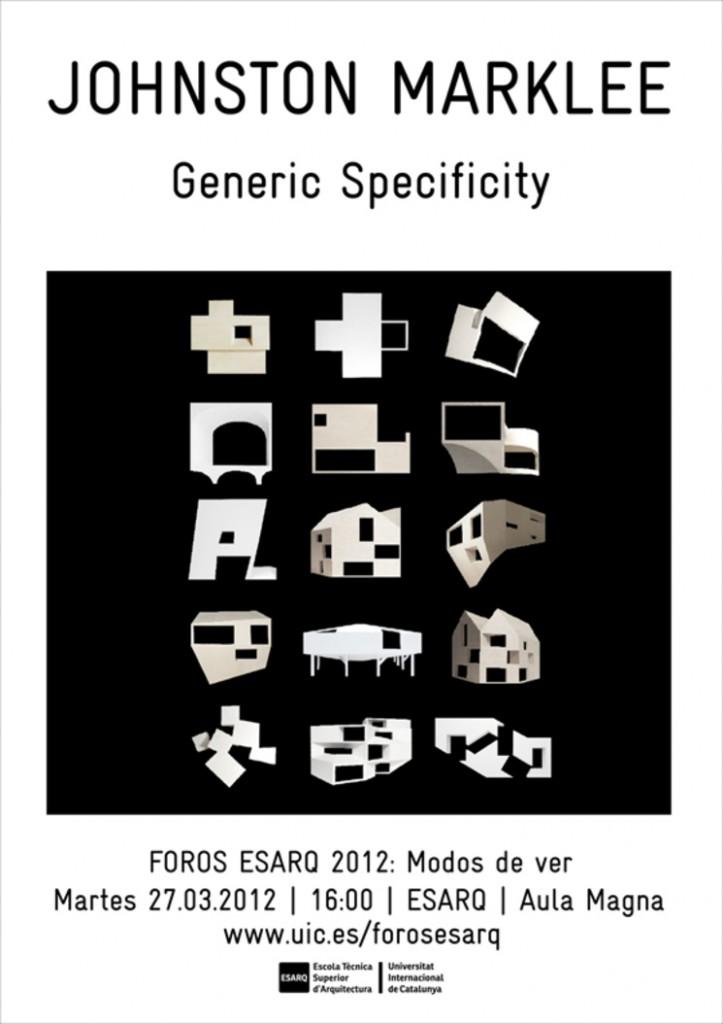 Especificidad genérica – Conferencia de Mark Lee en la ESARQ-UIC