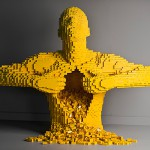 El arte del ladrillo de lego escultura