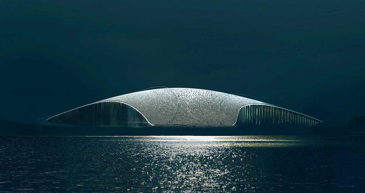 el nuevo mirador de ballenas en noruega