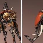 Elefantes de Salvador Dalí realizados con LEGO
