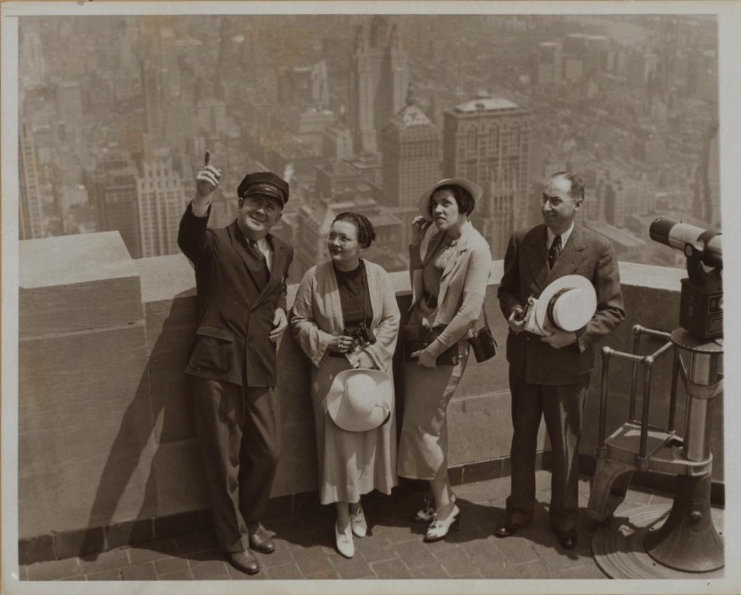 Terraza del Empire State Building en 1936